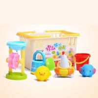 儿童戏水沙滩玩具套装 花洒喷水游泳玩具6件套婴儿宝宝洗澡玩具