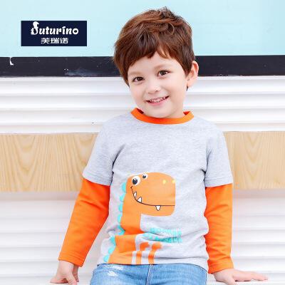 托马斯童装正版授权男童春新款长袖T恤纯棉t恤衫卡通休闲中童打底衫托马斯和朋友