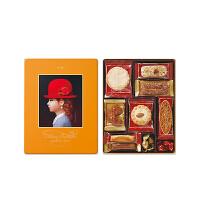 【年货】红帽子什锦曲奇饼干新年礼盒 黄色礼盒139g 日本进口休闲零食巧克力糖果伴手礼
