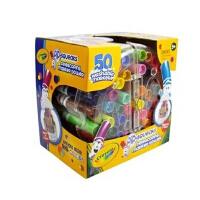 美国 Crayola绘儿乐 50色可水洗伸缩水彩笔 马克笔城堡 58-8750