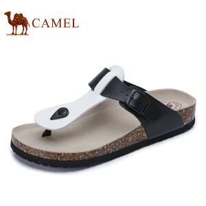 camel骆驼男鞋 2017春季新款户外休闲凉拖鞋 沙滩鞋人字拖