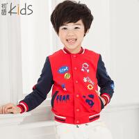 初语童装 冬装儿童外套卡通拼接长袖休闲男童外套 T5414010021