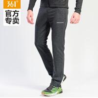361男裤运动裤秋季新款361度针织卫裤修身跑步裤子长裤551632801B C