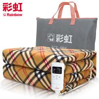 彩虹电热毯定时双人双控双温电热毯电褥子电热垫W14E适合1.5米床(颜色*发货)