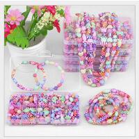 儿童串珠玩具手工diy女孩穿珠手链项链幼儿园手工材料包