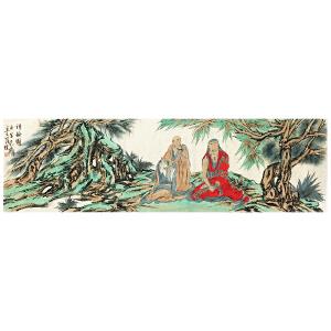 范扬 《红衣罗汉》中国国家画院国画院副院长