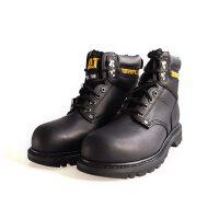 CAT卡特男鞋 新款户外经典高帮水晶牛筋厚底大黑靴休闲男鞋