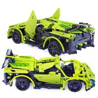 男孩积木遥控车拼装电动玩具车汽车模型积木车赛车