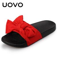 UOVO 2017新款夏季儿童单鞋公主风拖鞋