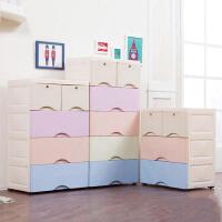 门扉 抽屉收纳盒 加厚抽屉式收纳柜宝宝衣柜儿童储物柜衣物收纳盒五斗柜塑料收纳箱