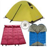 户外露营帐篷 双层 帐篷野营套装睡袋充气垫防潮垫 双人帐篷