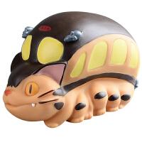 龙猫公交巴士搪胶存钱罐储蓄罐模型摆件动漫公仔玩具
