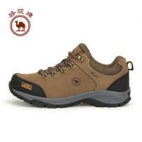 骆驼牌 男款户外徒步鞋减震防滑耐磨透气系带登山鞋