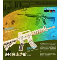 正品包邮若态3d立体拼图 木质仿真枪模型玩具 儿童拼插拼装JZ403M4突击步枪