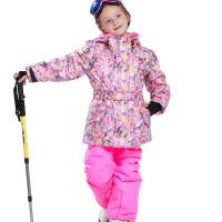 冬季 儿童户外防寒服女童  加厚保暖 滑雪服套装