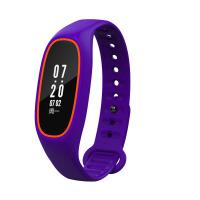 智能手环血压心率监测睡眠运动手表苹果安卓防水 橙紫