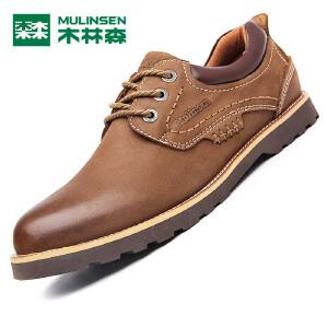 木林森木林森男鞋 新款男士户外工装鞋 耐磨防滑简约男皮鞋05367202