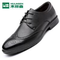 木林森 男鞋 新品男士商务休闲皮鞋 轻质透气舒适男皮鞋05367359