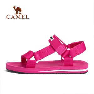camel骆驼户外情侣款沙滩鞋 男女织带魔术贴凉鞋舒适平稳