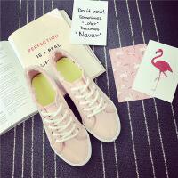匡达日系文艺小清新白色板鞋毛边百搭小白鞋女学生平底百搭帆布鞋