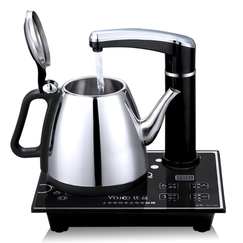 优益 电热水壶电茶具自动抽水上水 不锈钢壶 烧水壶 高档液晶触屏面板