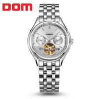 多姆(DOM)手表 全自动机械陀飞轮防水精钢商务男表休闲时尚男士手表