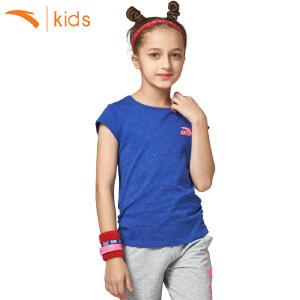 安踏童装女童短袖T恤 新款宝宝衣服短装中大童圆领上衣36727146