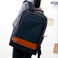 包包新款简约双肩包男女韩版学院风书包中学生电脑背包旅行包