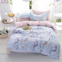 床上用品纯棉四件套全棉床单被套被单田园风1.5m/1.8m米床