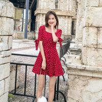 茉蒂菲莉 连衣裙 女式2017夏季高档民族风新款女装印花旗袍潮立领五分袖假两件中长裙子