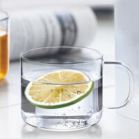 尚明玻璃小茶杯 品茗杯咖啡杯花茶杯红茶杯耐热玻璃杯两只装