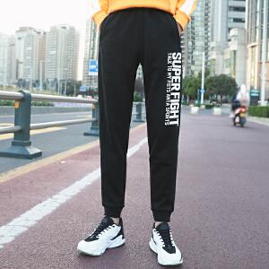 安踏男裤运动裤春季休闲裤字母百搭小脚裤跑步运动长裤15647752