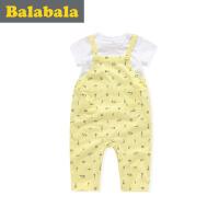 巴拉巴拉儿童短袖套装男婴童宝宝2017夏季新款婴童短袖新生儿两件套
