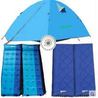 露营帐篷 睡袋充气防潮垫野营套装户外野营帐篷双层双人