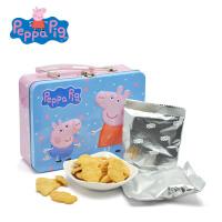 小猪佩奇PeppaPig 粉红猪小妹儿童零食品曲奇饼干礼盒铁盒装120g