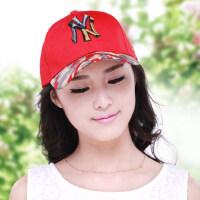 新款韩版鸭舌帽男女士ny棒球帽 韩国遮阳防晒帽嘻哈帽平沿情侣帽子