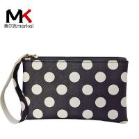 莫尔克(MERKEL)新款女零钱包手机包手包韩版波点甜美迷你钱包手腕包手拿包