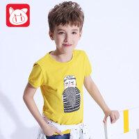小猪班纳童装男童短袖T恤2017夏装新款儿童半袖上衣男中大童体恤