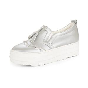 英伦时尚女单鞋厚底休闲鞋优雅百搭内增高板鞋套脚懒人鞋女鞋