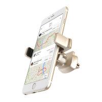 倍思车载手机支架汽车车用空调出风口卡扣式360度苹果手机导航架
