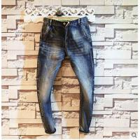 新款韩版时尚青年修身小脚裤潮男长裤子男士牛仔长裤
