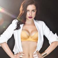 纯色调整型女士内衣超薄透明胸罩小胸上托聚拢性感刺绣文胸