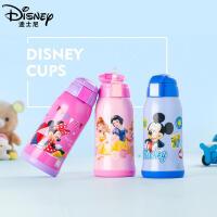 【用券价59.9】迪士尼保温杯双盖不锈钢小学生水杯儿童保温杯带吸管宝宝便携水杯