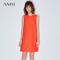 Amii[极简主义]2017夏新品优雅气质无袖连衣裙 11762879