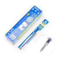 【当当自营】爱好 摩易擦笔芯0.5mm晶蓝(20支装) 子弹头可擦中性笔替芯创意文具1370