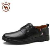 骆驼牌 新品休闲皮鞋 头层纳帕牛皮舒适耐磨低帮男士鞋子