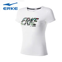 鸿星尔克女短T erke夏季新品透气吸汗舒适短T运动时尚休闲短袖女