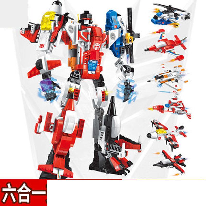 变形机器人金刚拼插拼装积木儿童玩具