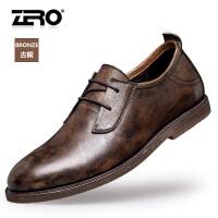 断码特惠Zero零度休闲鞋男缝制鞋圆头复古户外休闲皮鞋男士真皮鞋67047