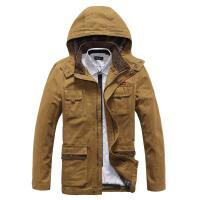 战地吉普AFS JEEP男士夹克 秋冬新款男装中长款夹克休闲宽松大码夹克衫